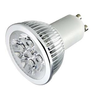 Gu10 Led 4W Cool White 6000K Light Bulb 120V - Replaces 50W Halogen Lamp