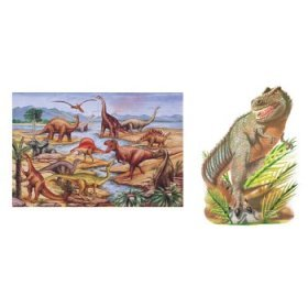 Cheap Melissa & Doug Dinosaurs and T-Rex Extra Large Floor Puzzle-2 Pack Bundle Baby Product (B000260N54)