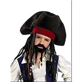Jack Sparrow Child Pirate Hat w/ Beaded Braids