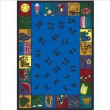 """Joy Carpets Kid Essentials Early Childhood Count On Me Rug, Multicolored, 5'4"""" x 7'8"""""""