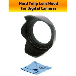 58mm Hard Tulip Lens hood for Canon EOS Rebel XTi XSi XS 450D 400D