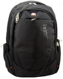 Swiss Travel Gear Laptops,computer,backpack,knapsack,rucksack Swiss Gear army knife bag for man woman girl (Pure Black)