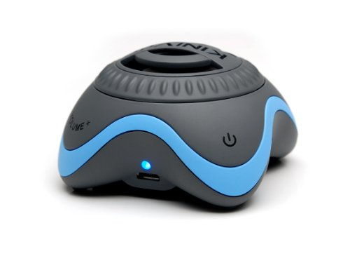 Kinivo Zx100 Mini Portable Speaker With Rechargeable Battery And Enhanced Bass Resonator (Grey-Blue)