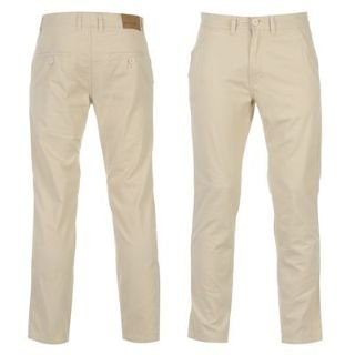 Pierre Cardin Mens Chino Trousers Ivory 34W L