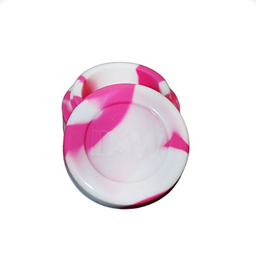 10 White And Pink Non-Stick Shatter Concentrate Silicone Girlie Jar Container Bho Oil Wax