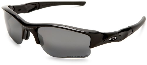 Oakley Men's Flak Jacket XLJ Polarized Sunglasses,Jet Black Frame/Black Iridium,one size