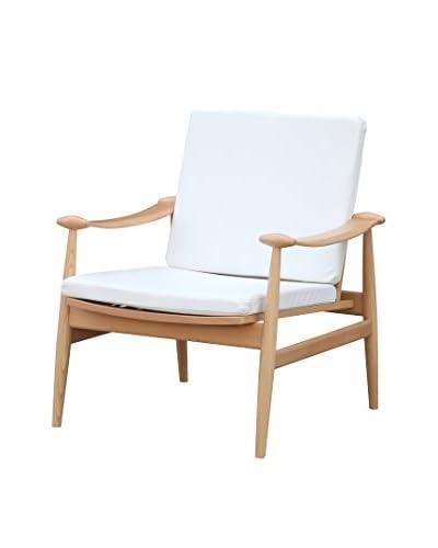 Manhattan Living Vogel Lounge Chair, White