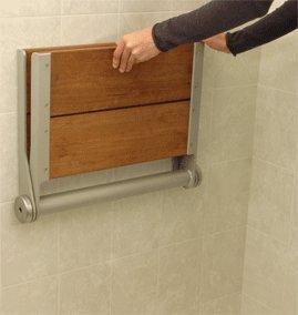 Folding Shower Seat - Folding Brazilian Walnut