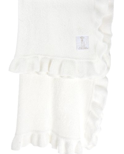 "Little Giraffe Feather Yarn Dolce Ruffle Blanket, 29"" x 35"" - White"