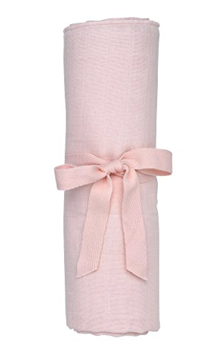 Under The Nile Muslin Swaddle Blanket, Pink - 1