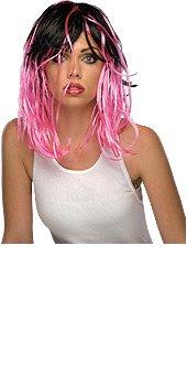 Rubie's Costume Co 2-Tone Streak Wig-Blk/Pnk Costume - 1