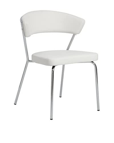 Eurostyle Draco Side Chair, White