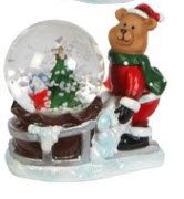 Christmas Snow Globe (Small Teddy Bear)