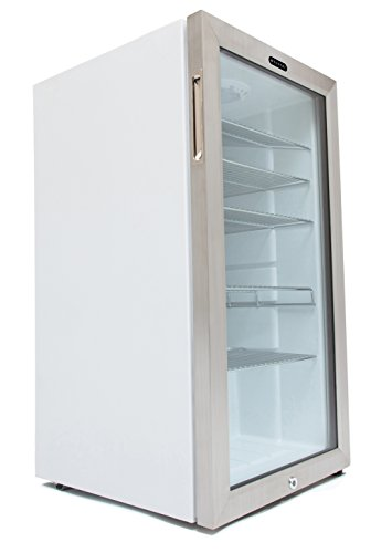 Whynter Br-128Ws Beverage Refrigerator With Lock, 120 Can Capacity, Stainless Steel front-198913