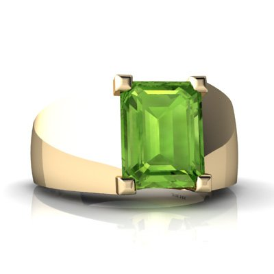 14K Yellow Gold Emerald-Cut Men's Ring