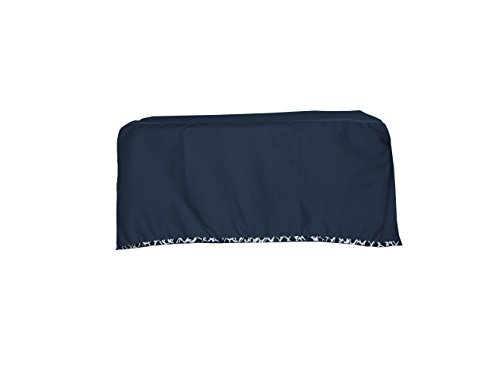 Baby Doll Cobblestone Crib Dust Ruffle, Navy - 1
