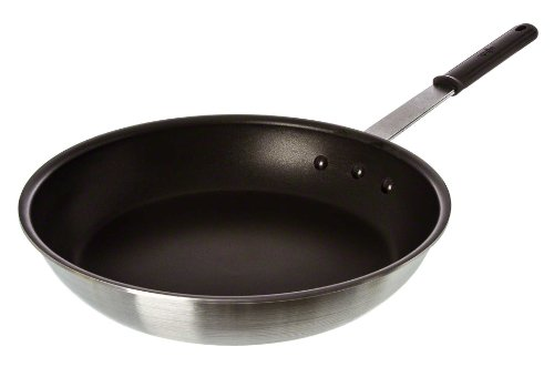 Update International AFQ-14H Quantum2 Coated Aluminum Fry Pan with Molded Handle, Non-Stick, 14-Inch