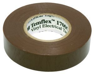 "10 Pack 3M Temflex 1700C Brown 3/4"" X 66' General Use Vinyl Electrical Tape"