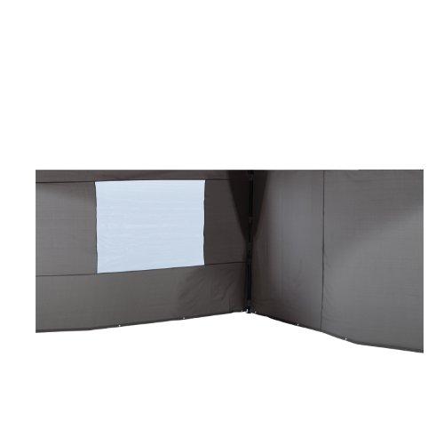 Garden Impressions 40307 Maxus Set 2, Seitenwände, 4 x 4 m gehört zum Maxus Pavillon 4 x 4, dunkelgrau