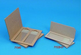 2 Microscope Slide Mailer, Solid Cardboard, 25/Pk