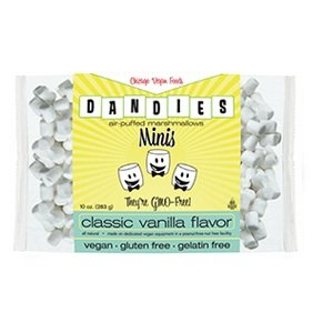 Dandies Mini-Marshmallows - Vegan, Animal Free, Non-GMO - 10 Oz. Bag - Tapioca Based Vegetarian Treats