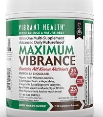 Vibrant Health - Maximum Vibrance Chocolate, 28.2 Oz Powder