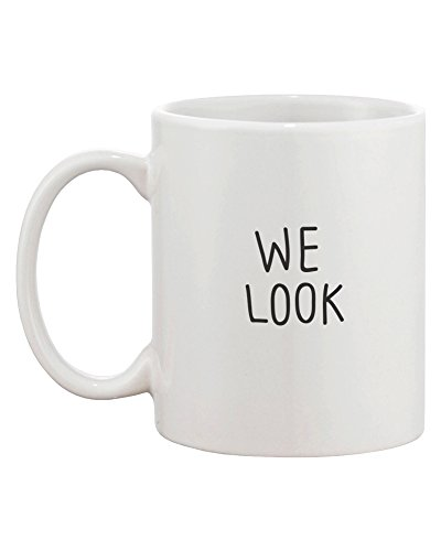 Look Good Matching Couple Mugs - Perfect Wedding, Engagement, Anniversary, and Valentines Day Gift for Newlyweds