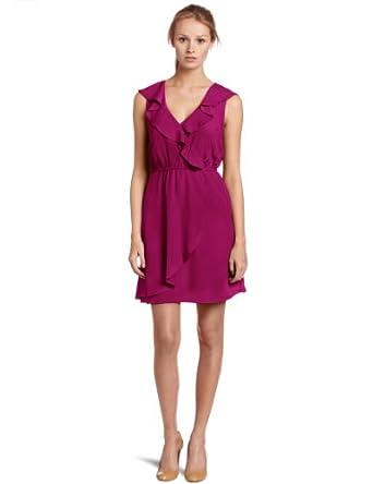 (史低)Bcbgeneration women's Red Ruffle Dress女子连衣裙 淡蓝 $37.73