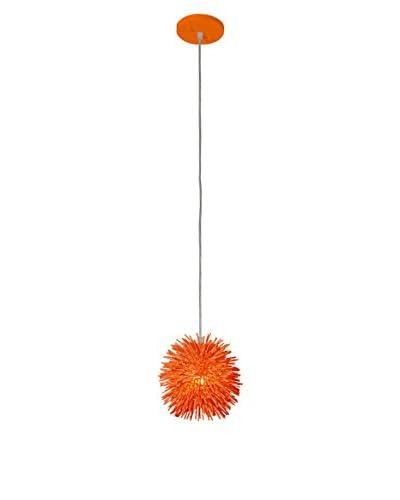 Varaluz Urchin 1-Light Uber Mini Pendant, Electric Pumpkin