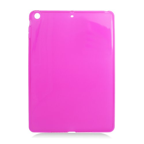 Buy  Apple iPad Air (iPad 5 5th Generation) TPU Skin Cover - Transparent Frosted Hot Pink