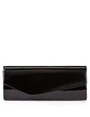 M&S Collection Patent Asymmetric Clutch Bag