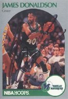 James Donaldson Dallas Mavericks 1990 NBA Hoops Autographed Hand Signed Trading Card... by Hall+of+Fame+Memorabilia