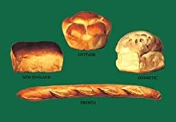 30 x 20 Stretched Canvas Poster New England, Cottage, Domestic, and French Breads