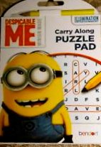 Despicable Me Carry Along Puzzle Pad