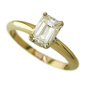 1.09ct Emerald Cut Diamond Solitaire F Color VS2 Clarity GIA CERT – Size