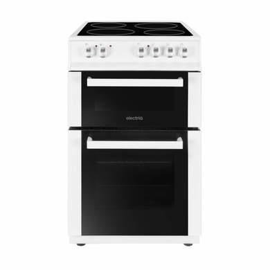 ElectriQ 50cm Electric Twin Cavity Cooker With Ceramic Hob - White