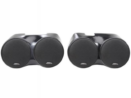 """Ssv Works Arctic Cat Wildcat Rear Cage Stereo Speaker Pods Includes 2 Pair Of 6 1/2"""" Speakers"""