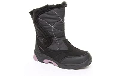 Hi Tec Ladies Hitec Park City 200 Snowboot - Black - Pink - 8