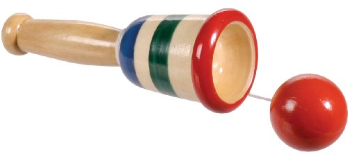 Toysmith Mini Wood Catch Ball - 1
