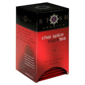 Stash Tea Black Tea (contains caffeine) - Chai Spice 20 foil tea bags (Pack of 8) Image