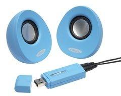 EDNET USB 2.0 Lautsprecher blau