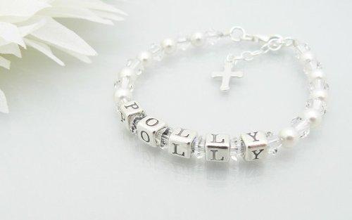 Namensarmband für Kinder - Schmuckgeschenk zur Taufe