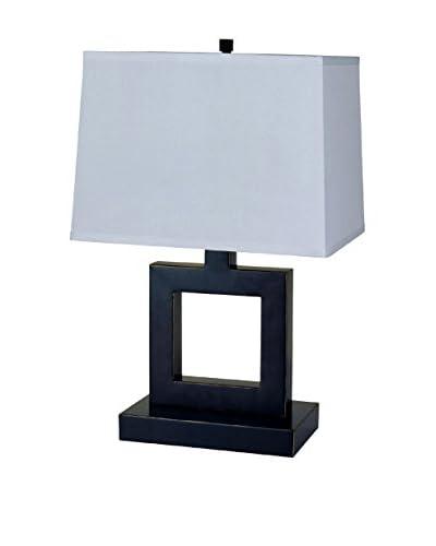 ORE International Square Table Lamp, Dark Bronze