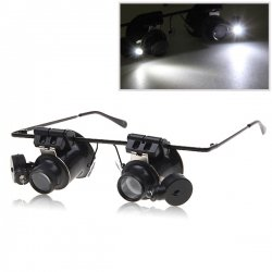 Grand Sale: Unique Glasses 20x Watch Binocular Magnifier with LED Light – Airsoft Accessories for Paintball, Bb Gun, Airsoft Mask, Halloween Mask, Goalie Masks, Goaltender Masks, Airsoft Face Mask, Paintball Masks – High Quality, Durable, Limited Collection