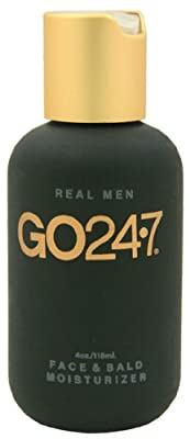 Best Cheap Deal for Go24-7 Real Men Face & Bald Moisturizer 4oz by Go24-7 - Free 2 Day Shipping Available