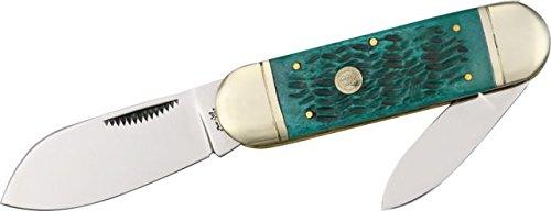 Frost Sunfish Jade Green Folding Knife,Stainless Spear and Pen Blade, Jade Green Jigged 14-961JGJ