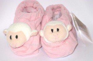 Baasley Baby Russ Pink Baby Booties Newborn Girl