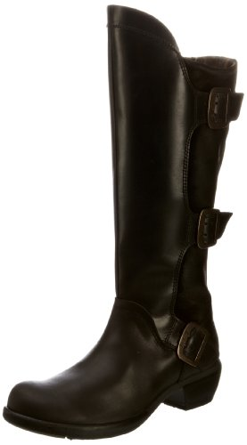 Fly London Women's Mynd Black Knee High Boots P142310002 4 UK