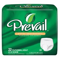 "Prevail® Extra Underwear , Youth/Small*, Lavender, 20""-34"", 4 Bags Of 22 (88 Ct.)"