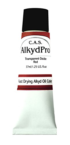 cas-alkydpro-fast-drying-oil-color-paint-37ml-tube-transparent-oxide-red
